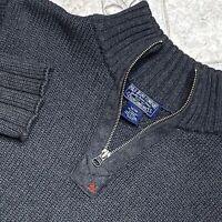 Ralph Lauren Polo Jeans Co 1/4 Zip Knit Sweater Shirt Adult Medium Gray Top Mens