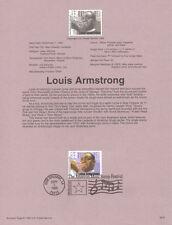 #9534 32c Louis Armstrong Stamp #2982 USPS Souvenir Page