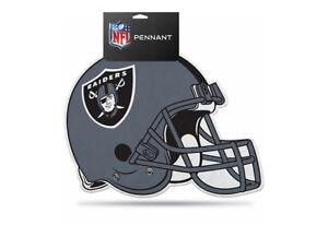 NFL Oakland Raiders Die Cut Felt Pennant Sign Wall Man Cave Helmet NEW