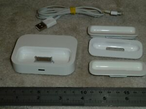 APPLE UNIVERSAL DOCK GENUINE IPOD DOCKING STATION A1256 USB CABLE LEAD + ADAPTER