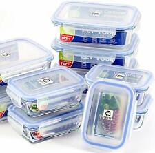 (10-Pack) Glass Food Storage Containers with Airtight Lids Meal Prep Containers