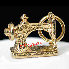 3D SEWING MACHINE 24k GOLD Layered Charm / Pendant + LIFETIME GUARANTEE