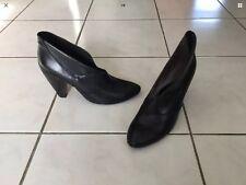Escarpins REQINS pointure 40 cuir noir quasi neufs