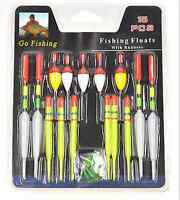 Lots 15pc Fishing Lure Floats Bobbers Slip Drift Tube Indicator Assorted Sizes P