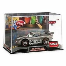 Disney Store Cars 2 Die Cast Collector Case Hot Rod Silver Lt McQueen Chase NEW