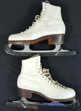 Pre Owned Riedell Silver Star Women Figure Ice Skates 355 Size 5