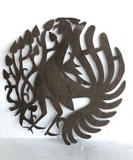 Haitian Metal Sculpture Signed MJ