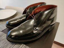 Vintage Military Chukka boots Dupont Corfam size 12 E Worn Twice Rare Navy Boots