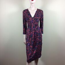 MAX MARA Damen Kleid M 38 Rot Braun Purple Wrap Jersey Day Dress Casual Style