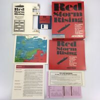 Vintage 1987 MicroProse Red Storm Rising IBM Tandy PC XT AT Big Box Complete