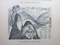 Edvard Munch 1898 Rare Lithographie Théâtre de l'œuvre Chat Noir Sattler Caran