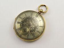 Reloj De Bolsillo Antiguo Oro 18k John Caney Londres clave Viento Esfera Plateada
