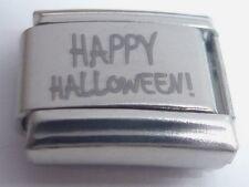 HAPPY HALLOWEEN Italian Charm N130 fits Classic Starter Bracelets 9mm Spooky