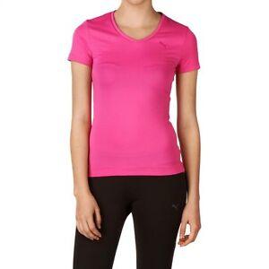 Puma Pink Size 12 T-Shirt Top Aerobics Gym Yoga Running