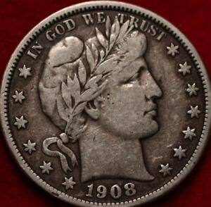 1908-D Denver Mint Silver Barber Half Dollar