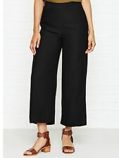 Whistles Stitch Fluid Crop Trousers  Black Size 12 rrp £119.00 SA078 GG 17