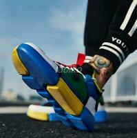 Men High Top Fashion Sneakers Hop Shoes Lace Up Skateboard Hip Sport Athletic sz