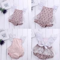 Newborn Kids Baby Girls Infant Romper Jumpsuit Bodysuit Clothes Outfits Set Cute