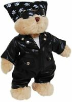 TIC TOC TEDDY SIKE THE BIKER BEAR JOINTED BEAR IN BIKER OUTFIT BANDANA OUTFIT