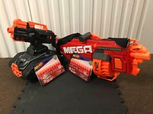 Nerf Terrascout + n-strike MEGA Mastodon blaster with brand new Darts. See disc.