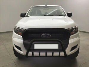 FORD RANGER WILDTRAK STAINLESS STEEL BLACK AXLE NUDGE A-BAR BULL GUARD 2012-2018