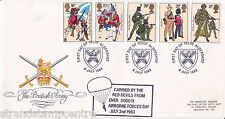 ESERCITO 1983-RM-Aldershot H / S-Red Devils paracadute AIRBORNE FORCES giorno CACHET