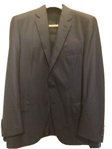 Brioni US 44 EU 54 Colosseo Super 160 s 160s Sport Coat Suit Jacket Blue Navy