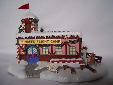 2003 Hawthorne Rudolph Christmas Town Village-Coach Comet's Flight Camp