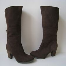 TIMBERLAND WATERPROOF GREEN RUBBER BROWN SUEDE LEATHER KNEE HI BOOTS  US 9.5 HOT