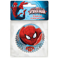 Pirottini per Muffin o Cupcake - Spiderman Uomo Ragno Cartine Carta Forno 60 pz