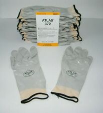 ATLAS 372 SHOWA WORK GLOVES  FULLY COATED NITRILE - 12 PAIR - LARGE / GRAY