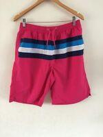 Tom Franks Pink Shorts Swim Shorts Striped Panel Mens Size XL <R2536