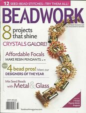 Beadwork magazine Crystals Resin pendants Metal and glass Seed bead stitches