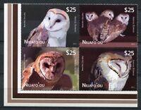 Niuafo`ou 2012 Eulen Owls Vögel Birds  479-482 Satz Zusammendruck Postfrisch MNH