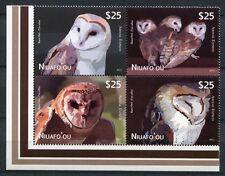 NIUAFO`OU 2012 Eulen Owls Vögel Satz im Zusammendruck ** MNH