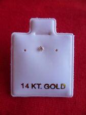 14k White Gold Mini Nose Ring Stud