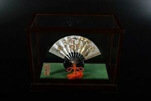 L8432: Japanese Pure Silver Sensu sculpture ORNAMENTS object art work
