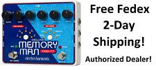 New Electro-Harmonix Deluxe Memory Man 1100TT Tap Tempo 1100 ms Delay Pedal TT