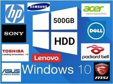 "500GB 2.5"" SATA Internal Laptop Hard Drive Disk HDD Windows 10 Pre Installed"