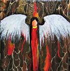 Guardian Angel Painting Original Art by Rain Crow