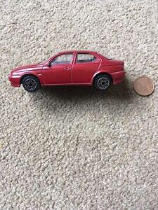 Car Motoring Alfa Romeo 156 Burago Metal Scale 1:43 Model Red