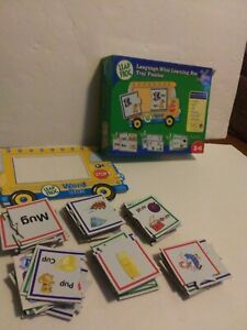 2006 LEAP FROG LANGUAGE WHIZ LEARNING BUS TRAY PUZZLES  - WORD BUS