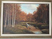 William Blackman (American 1930) Original Oil Painting Landscape, Signed, Framed
