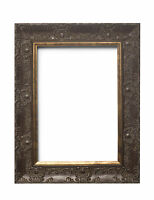 WIDE Ornate Shabby Chic Antique swept Picture frame photo frame MAHOGANY / MUSE