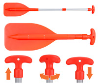 2 x TELESCOPIC PADDLES H/DUTY ALUMINIUM OARS, BOAT MARINE KAYAK PWC Boat Paddles