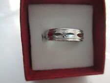 RING SILVER ALUMINIUM ONE SIZE. PATTERNED. DOES NOT RUST. 20mm DIAMETER NEW