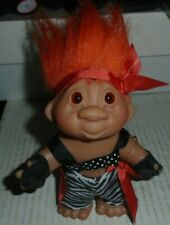 Trolls Doll Orange Hair Zebra Print 2005 Dam