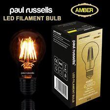 Filament Light Bulbs LED Edison Pearl Standard Decorative Antique ES BC