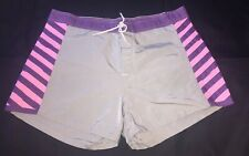 Vintage Womens Sundek Nylon Swim Shorts