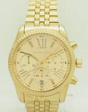 Ladies Michael Kors MK5556 Lexington Gold Toned Chrono Date 38mm Watch w/Box